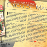 PrimeTime Newspapers_ Que Pasa Magazine - Cinco De Mayo. With some decent photography_imagey, page layout can be a pretty fun task!