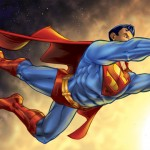 Superman in the Sun - A more recent illustration that printed out very nicely! FOR SALES!